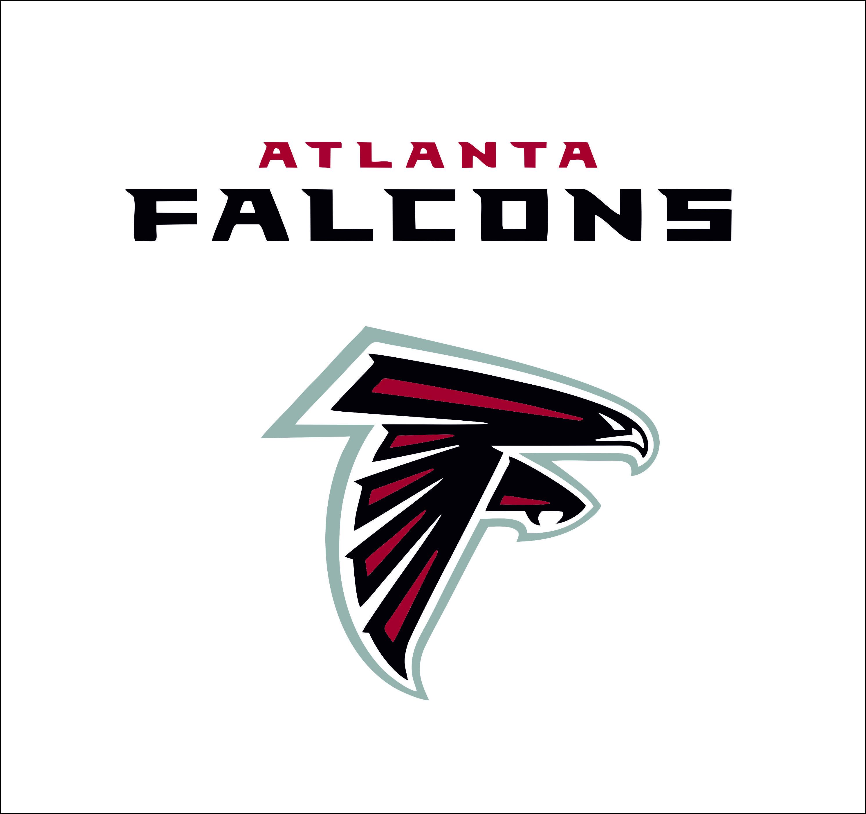Atlanta Falcons logo   SVGprinted