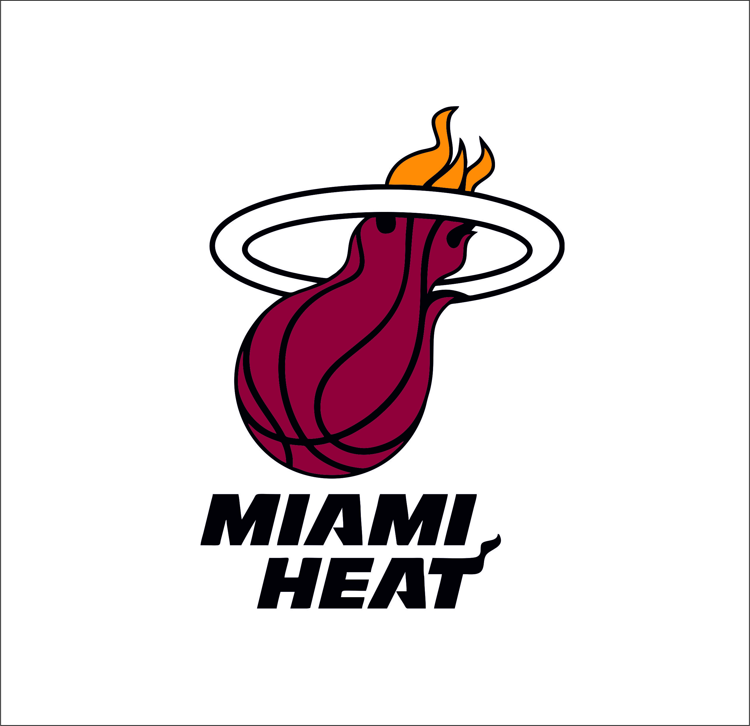Miami Heat Logo Svgprinted